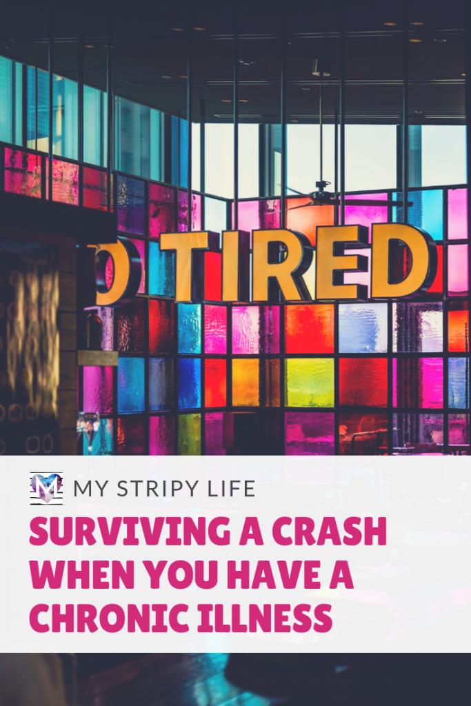 Pinterest image - surviving a crash when you have a chronic illness